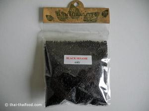 Schwarze Sesamkörner