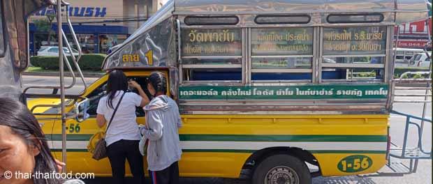 Songthaew grüne Route