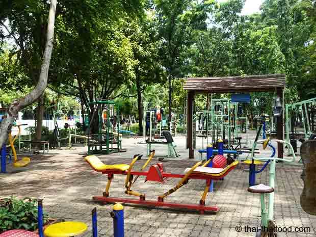 Fitness im Rama 9 Park Bangkok