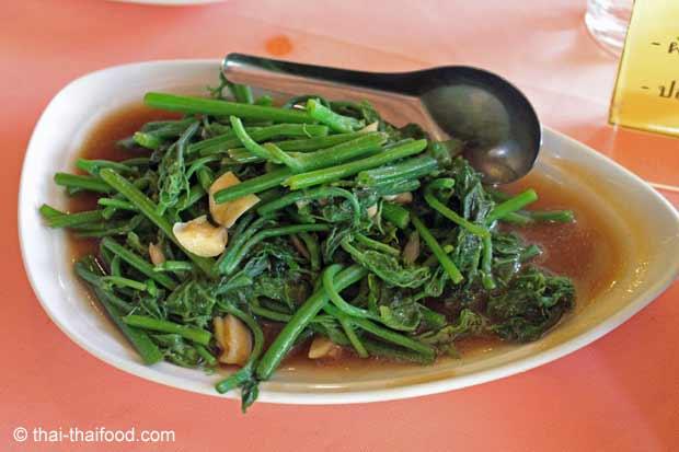 Chayote Blätter Gemüse mit Austernsauce