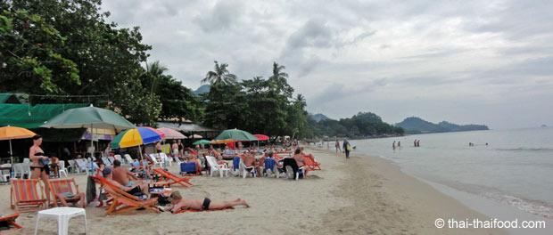 Strand auf Koh Chang bevor es anfängt zu regnen