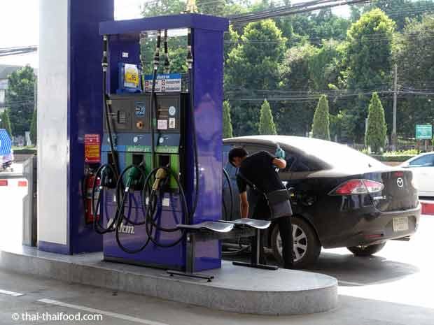 Tankstelle in Nordthailand