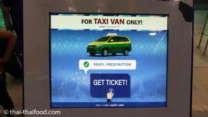 Taxi Ticket Automat für größere Taxis und Vans