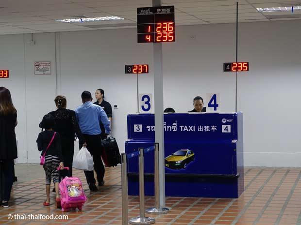 Taxistand Flughafen Bangkok