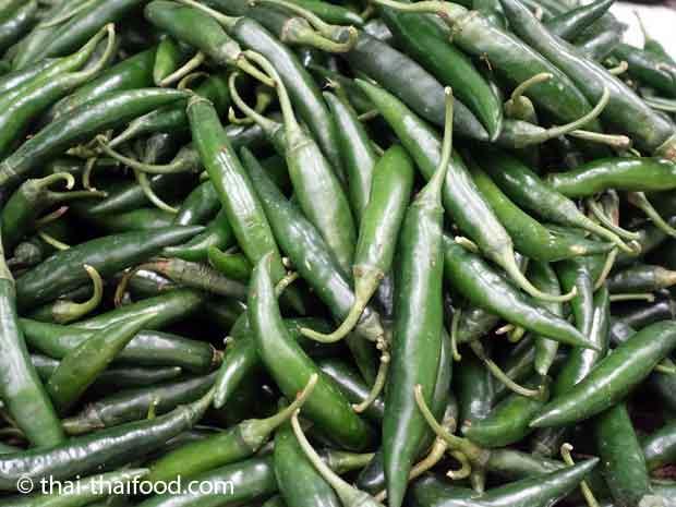 Grüne Thai Chili Prik Chi Faa