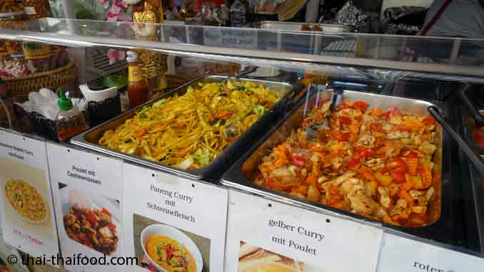 Thai Food Stand auf dem Thai Festival Aargau