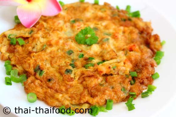 Thai Omelett mit Garnelen