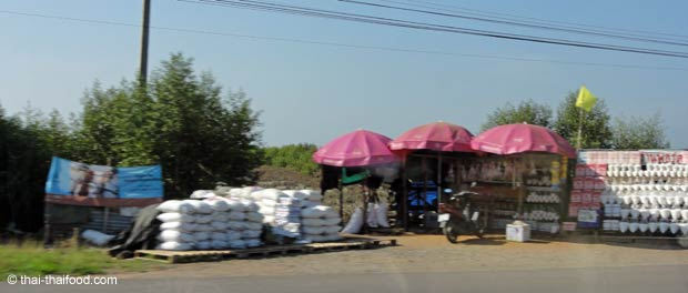 Thailändischer Salz Verkaufsstand