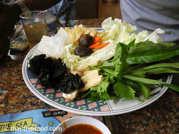 MK Restaurant Zutaten für Thai Suki