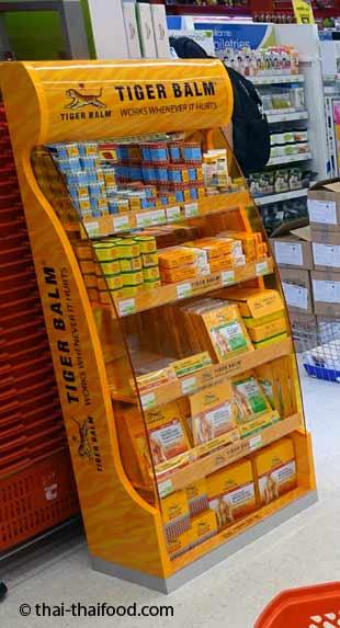 Tiger Balm Thailand im Supermarkt