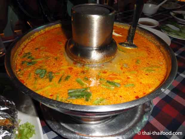Thailändischer Suppentopf für Tom Yam