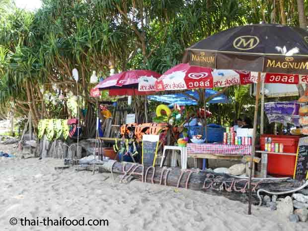 Der Yanui Beach Thai Food und Getränke Shop