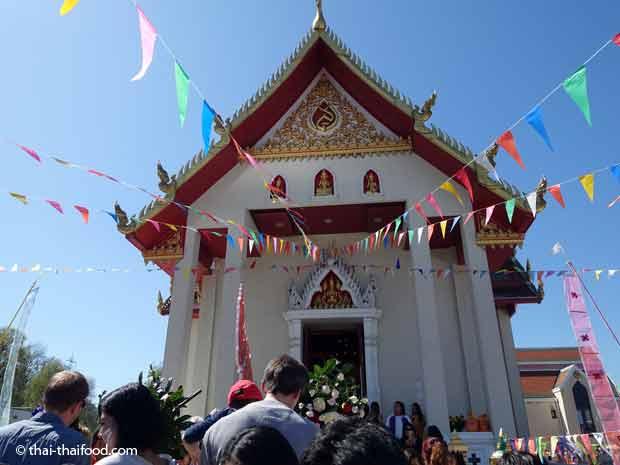 Wat Srinagarin Eingang zur Versammungs- und Gebetshalle