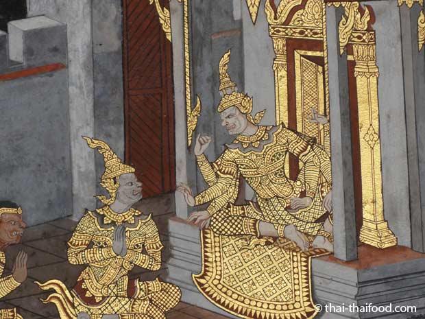 Ramakien Wandmalereien