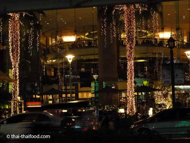 Weihnachtsdekoration in Thailands Hauptstadt Bangkok