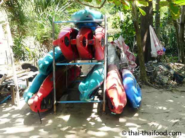 Kanu fahren am Yanui Beach