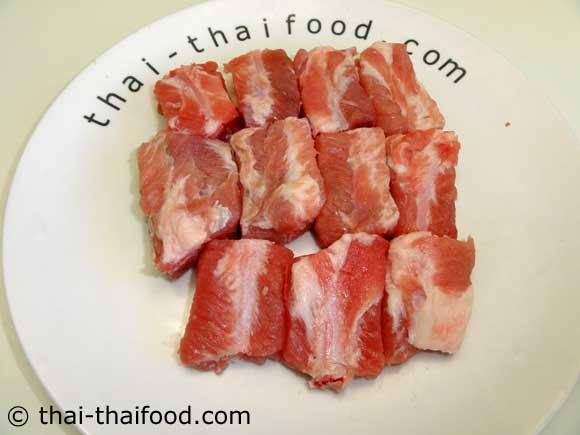 zugeschnittene Schweinerippchen
