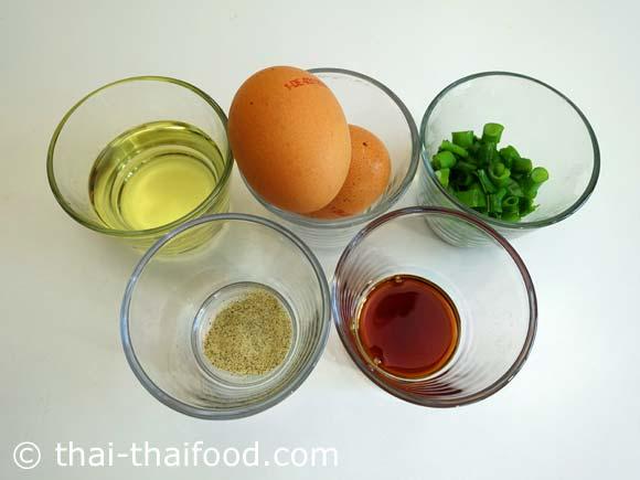 Zutaten Thai Omelette