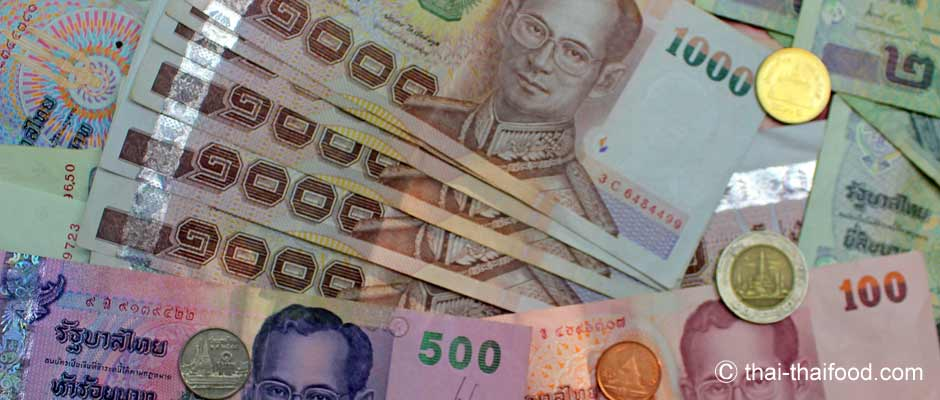 Euro Geld wechseln in Baht