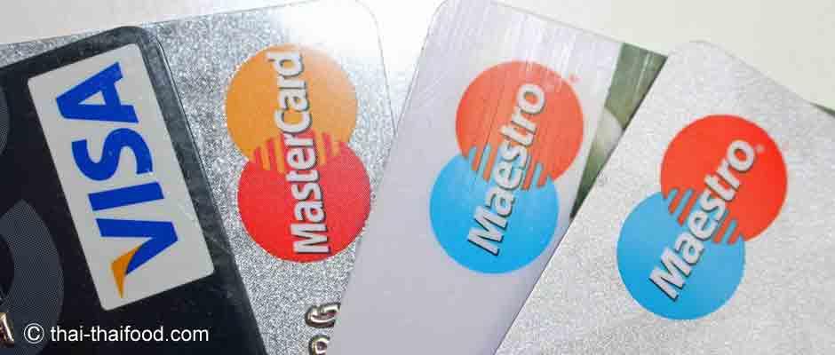 THailand Geldautomat für Kreditkarten