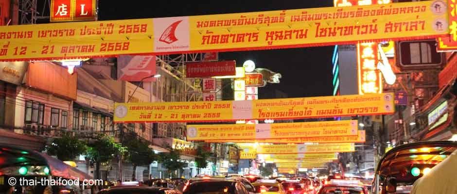 Vegetarisches Food Festival in Chinatown Bangkok