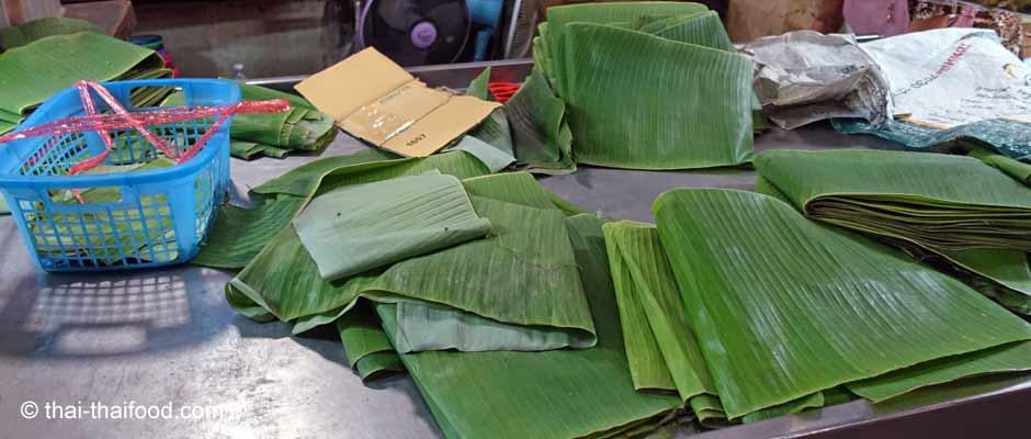 Die Bananenblätter sind sehr robust, wasserbeständig und erstaunlich langlebig.