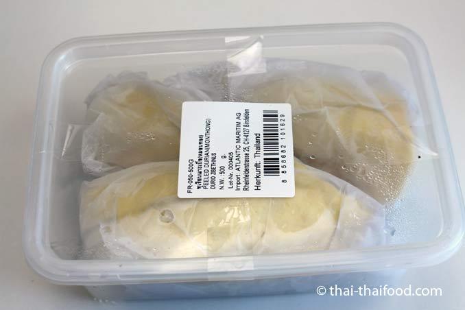 Durian aus dem Kühlregal
