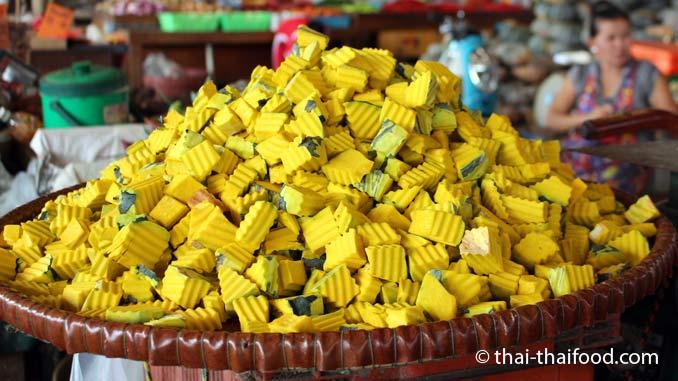 Gewürfelter Thai Kürbis