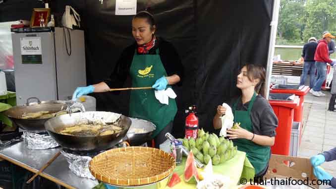 Thai Fest Böblingen - Frittierte Bananen