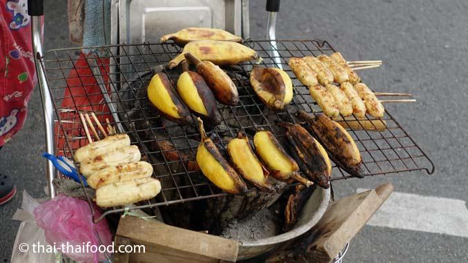 Thaibananen gegrillt