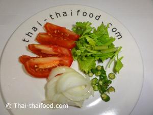 Gemüse vorbereitet für Yam Wun Sen