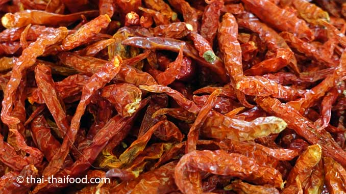 getrocknete Chilis