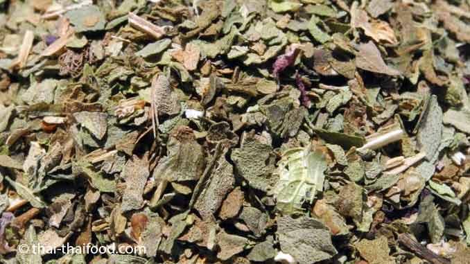 Thai Basilikum getrocknet