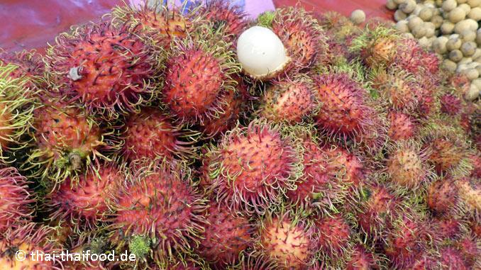 Thailändische Rambutan Früchte