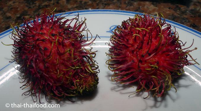Reife Rambutan Frucht