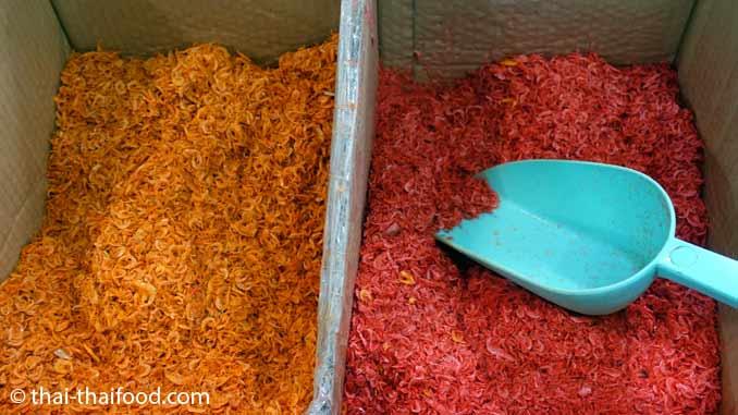 Getrocknete Shrimps aus Thailand