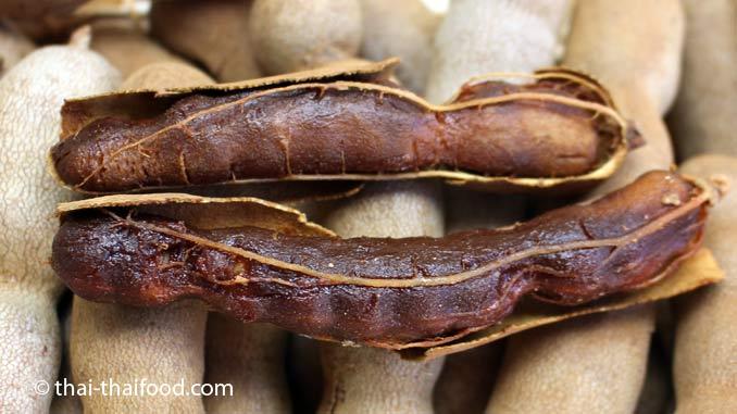 Thailändische Früchte Tamarinde