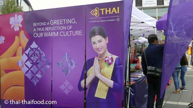Informationsstand der Thai Airways auf dem Thai Festival Böblingen