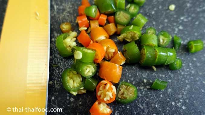 Thai Chili geschnitten