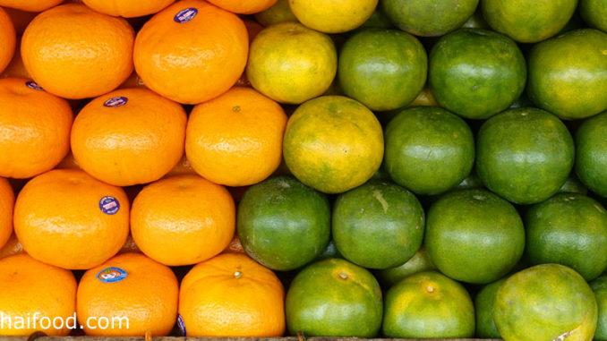 Orangen aus Thailand