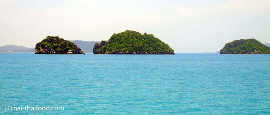 Übersicht thailändische Inseln