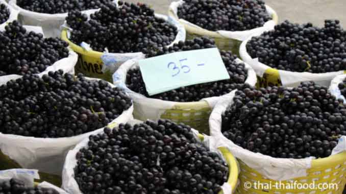 Thailändische Früchte blaue Trauben aus Asien