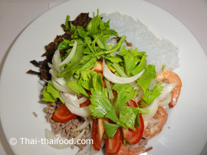 Thai Glasnudelsalat Zubereitung